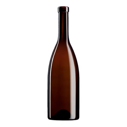 Botella de vidrio borgoña